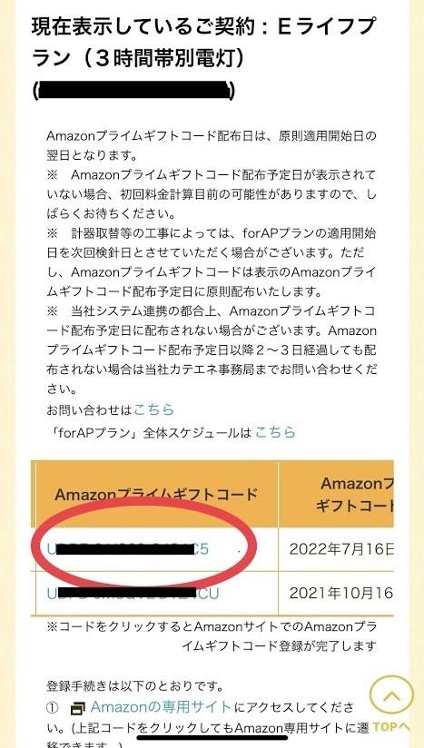 Amazon カテエネ